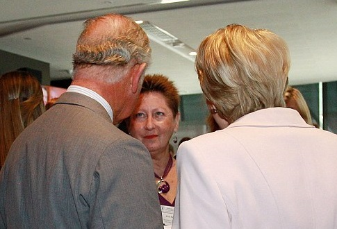 Prince Charles and Janine Kirk meet with Kris Newton
