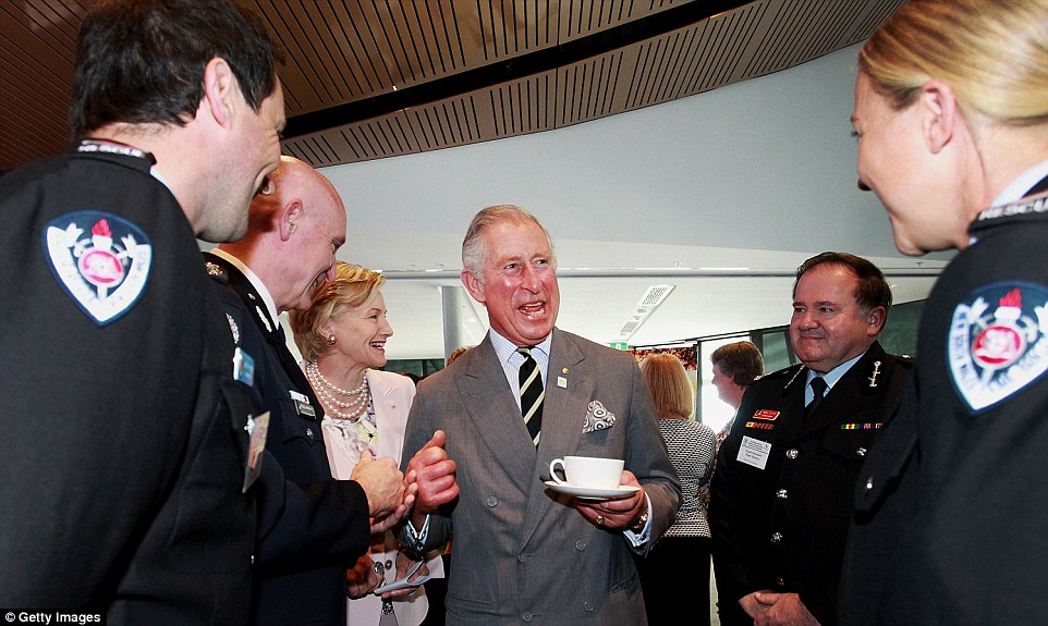 Prince Charles meets members of NSW Fire and Rescue